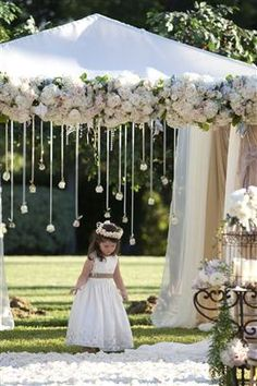 Beautiful!  would work for the arch at the alter and the back of the asile when the turn to see the bride.