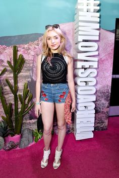Disney actress Peyton List wore our ASH ARIEL fringed satchel alongside her festival look at coachella. Shop this style!  http://www.ashfootwear.co.uk/search/ariel