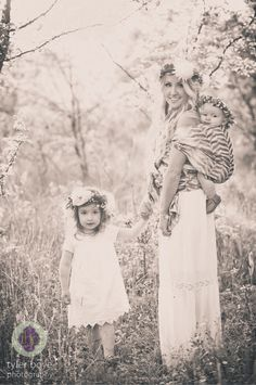 Babywearing boho family photo shoot