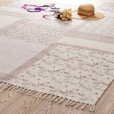 Tappeto rosa in cotone a pelo corto 160 x 230 cm MENARA