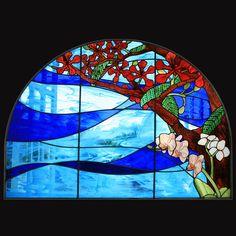 """Vitrales originales diseñados a la medidada. Combinando las Técnicas de Grisalla o """"traditional glass paint"""" (pintura fundida con el vidrio), Vidrio Fundido, Grabado en vidrio """"sandblasting"""" .1 787 587 7629"""