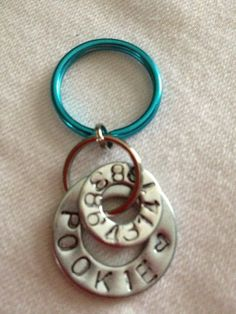 Personalized Metal Pet Tags by Stampped on Etsy, $10.00 (free shipping)  *Pet Tags finally available with Paw Print or Whimsy Heart Stamp!* Diameter/1 inch