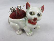 Vintage Cat Pin Cushion - Japan - Figurine