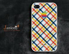iphone 4s case iphone case iphone 4 case iphone 4 cover yellow green check pattern colorized  Scotland style unique Iphone case. $13.99, via Etsy.