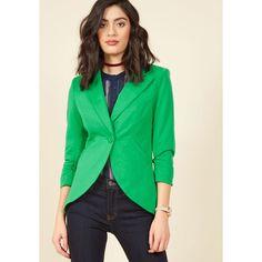 Fine and Sandy Blazer ($35) ❤ liked on Polyvore featuring outerwear, jackets, blazers, apparel, blazer, classic blazer, varies, three quarter sleeve blazer, fleece-lined jackets and 3/4 sleeve jacket