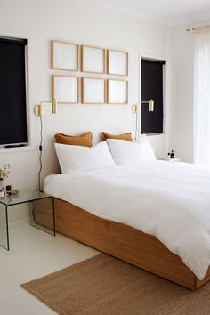 The most ideal approach to begin modernizing in your life is to have a modern bedroom. Modern bedroom decor can be generally easy to do. White Bedroom Design, Modern Bedroom Decor, Stylish Bedroom, Living Room Decor, Modern White Bedrooms, Modern Room, Modern Decor, Bedroom Sets, Home Bedroom