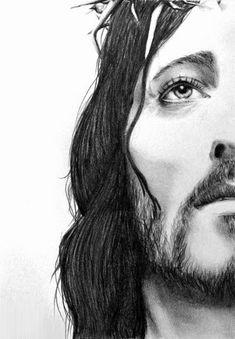 Jesus Christ by on DeviantArt Jesus Christ Drawing, Jesus Drawings, Christian Drawings, Christian Artwork, Jesus Artwork, Jesus Tattoo, Church Pictures, Jesus Wallpaper, Pictures Of Jesus Christ