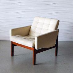 Ole Gjerlov-Knudsen & Torben Lind; Teak 'Moduline' Lounge Chair for France & Son, 1962.