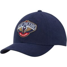 cb7365f9afa Men s New Orleans Pelicans Mitchell   Ness Navy Basic Washed Flex Hat