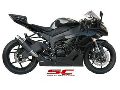 SC-Project GP-EVO: For the Kawasaki The handcrafted quality of SC-Project performance motorbike exhausts come with a removable DB Killer. Kawasaki Zx6r, Exhausted, Evo, Vehicles, Cars, Vehicle