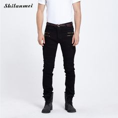 >> Click to Buy << Green Black Denim Jeans Mens Skinny Jeans Men 2017 Runway Distressed Slim Elastic Jeans Hip Hop Washed #Affiliate