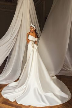 Νυφικο σε ισια γραμμη απο σατεν mikado Couture Collection, Dress Collection, Beautiful Bride, Beautiful Dresses, Satin Color, Classic Wedding Dress, Maid Dress, Effortless Chic, Wedding Attire
