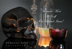 Do you love skulls? Then this sale is for you. This weekend only our Memento Mori Collection will be 50% to 70% OFF Selected items. #sale #skulls #mori  See all sale items at: http://www.dlcompany.com/Memento-Mori-Sale_c_112.html