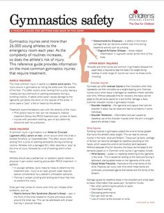 Youth sports concussions infographic youth sports pinterest a guide to the most common injuries associated with youth gymnastics get the 2 fandeluxe Choice Image