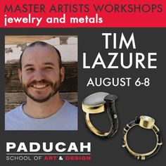 Tim Lazure: Ring 360° on August 06 - 08, 2015 at 9:00 am - 4:00 pm. This three-day hands-on workshop focuses on design and fabrication of rings by one of America's leading jewelry artists. This workshop is designed for beginner to intermediate metalsmiths. Category: Classes / Courses - Lifestyle, Arts, Leisure - Arts and Crafts. Price: Three-day hands-on jewelry workshop: USD 290. URLs: Facebook: http://atnd.it/22999-1, Website: http://atnd.it/22999-2