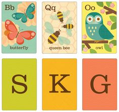 Petit Collage Alphabet Cards In the Garden A-Z - Free Shipping
