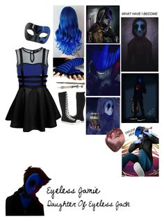 """Descendents:Daughter Of Eyeless Jack"" by pastelgothprincess27 ❤ liked on Polyvore featuring Tokyo Doll, Masquerade and Converse"