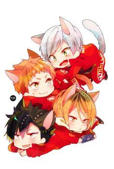 Read Haikyuu Special - Moms (part from the story Anime Picture by with reads. Part Moniwa in Nekoma Kagehina, Haikyuu Nekoma, Kuroo Tetsurou, Haikyuu Fanart, Haikyuu Anime, Karasuno, Anime Kawaii, Anime Chibi, Manga Anime