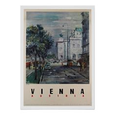 Vienna Austria - Vintage Travel Posters