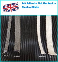 Flat Stove Rope Self Adhesive Glass Seal Stove Fire Rope 25mm & 12mm Wide Reeds