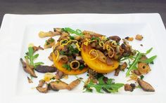 Mushrooms on Butternut Polenta Rounds [Vegan, Gluten-Free] | One Green Planet
