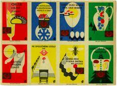 Vintage Czech matchbox labels. Kindra Murphy.