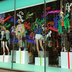 """TOPSHOP, Oxford Street, London, UK, """"It turns out a new direction is what this summer is all about"""", photo by Oliver Vilcans, pinned by Ton van der Veer"""