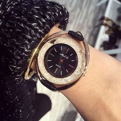 Leather Women Watches Brand Luxury Fashion Ladies Watch Women With Swarovski Crystal Wristwatches Relojes Mujer Quartz Clock