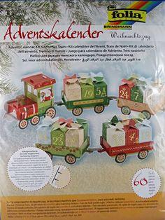 Bastelset Adventskalender Weihnachtszug