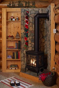 New Ideas Living Room Wood Stove Stones Wood, Eclectic Home, Cabin Decor, Wood Shelves Living Room, Living Room Wall Color, Stove Decor, Wood Burning Stove Corner, Living Room Wood, Room Wall Colors