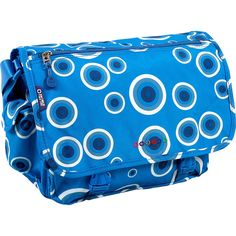 J World Terry Messenger - Blue Target - Messenger Bags ($25) ❤ liked on Polyvore featuring bags, messenger bags, blue, flap messenger bag, jworld bags, blue messenger bag, flap bag and zipper bag