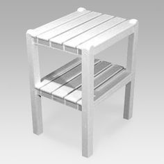 POLYWOOD® Traditional Recycled Plastic 2-Shelf Side Table | from hayneedle.com