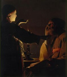 The Angel Appears to Saint Joseph -   The Angel Appears to Saint Joseph  Georges de La Tour Oil on canvas, 93 x 81 cm. Nantes, Musée des Beaux-Arts de Nantes