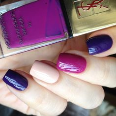 Colourful Nails Add Glamour To The Summer - Page 21 of 21 - Dazhimen Fancy Nails, Love Nails, How To Do Nails, Pretty Nails, My Nails, Chic Nails, Stylish Nails, Shellac Nails, Acrylic Nails