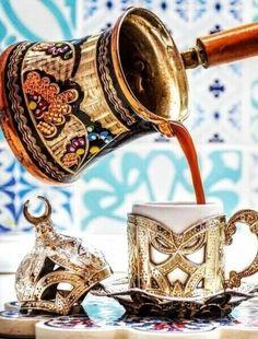 Coffee Gif, Coffee Love, Hot Coffee, Coffee Break, Morning Coffee Images, Arabic Coffee, Brown Coffee, Tea Cup Set, Turkish Coffee