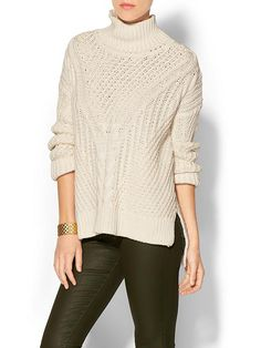 525 America Hi Lo Turtleneck Sweater Product Image