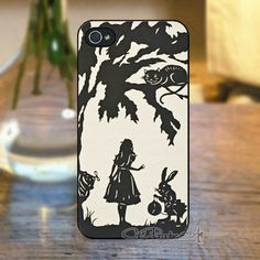 New Arrival Luxury Stylish Pattern Cartoon Alice in Wonderland with Rabbit Hard Case Cover for iPhone 4 4s 5 5s 5C