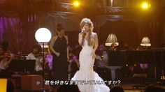 Ayu during FNS Kayousai 2008 in her gorgeous mermaid dress . I want a dress like that for my wedding <3