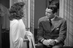 The Philadelphia Story. (1940)  Romantic Comedy. Katharine Hepburn, Cary Grant, James Stewart. Three of the brightest stars of 20th century cinema play a romantic triangle in this well-written, impeccably performed film. Jimmy Stewart makes my heart patter.