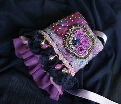 Beaded wrist  cuff bracelet Marie Antoinette cuff by KingaDesign