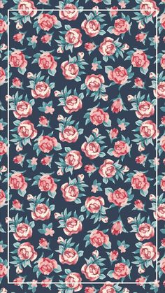 Wallpaper Flores Vintage Flowers Floral Patterns 60 Ideas For 2019 Classic Wallpaper, Trendy Wallpaper, Flower Wallpaper, Pattern Wallpaper, Wall Wallpaper, Cute Wallpapers, Floral Wallpapers, Pretty Wallpapers For Girls, Rose Pink Wallpaper
