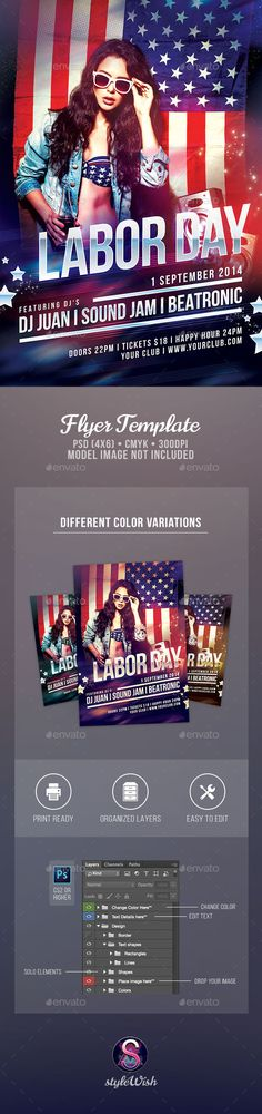 Labor Day Flyer Labour, Flyer template and Party flyer - labour day flyer template