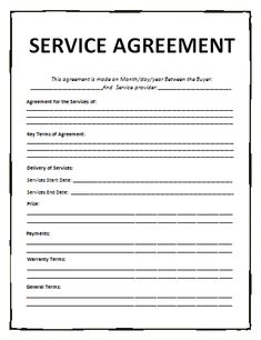 service-agreement-template-226 ... - general contract for services ...