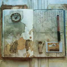 Artist journal, artist sketchbook, sketchbook pages, art journal pages, art Art Journal Pages, Artist Journal, Artist Sketchbook, Art Journals, Drawn Art, Sketchbook Inspiration, Handmade Books, Bookbinding, Oeuvre D'art