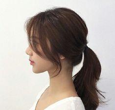 Side Bangs Hairstyles, Pretty Hairstyles, Straight Hairstyles, Cut My Hair, Hair Cuts, Korean Long Hair, Medium Hair Styles, Long Hair Styles, Shot Hair Styles