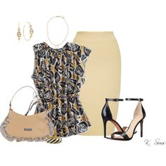 Untitled #4947 by ksims-1 on Polyvore featuring Lucky Brand, Ioana Ciolacu, Tory Burch, Galliano, Ciner and Michael Kors