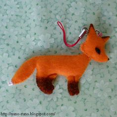 Red fox - free pattern and tutorial from Nuno-Runo.blogspot.com