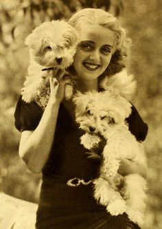 Bette Davis and her dogs