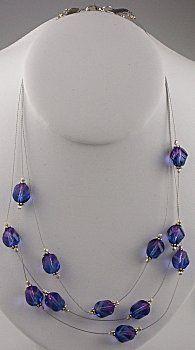 IDEA: Blue & Purple Floating Necklace (eebeads.com)