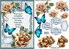 A lovely traditional card front to fit an A5 card  use as is by adding a greeting or build up the layers for a 3d effect  suitable for birthday, get well or thank you